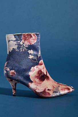 Faryl Robin Floral Velvet Booties