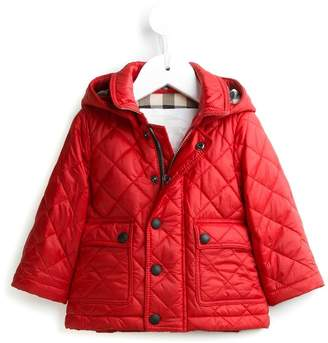 Burberry quilted hooded coat
