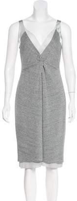 Peter Som Metallic Midi Knit Dress
