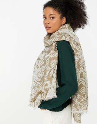 ba7ef078f7e75 Accessorize Snake Jacquard Blanket Scarf