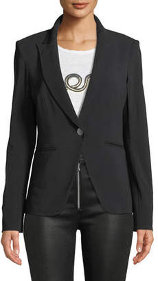 Veronica Beard Simone One-Button Dickey Jacket