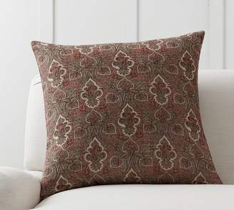 Pottery Barn Libbey Paisley Print Pillow Cover