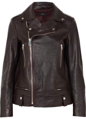 Ryder Leather Biker Jacket - Merlot