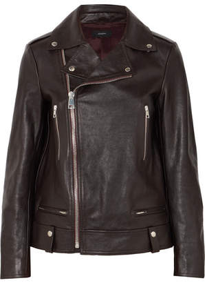 Joseph Ryder Leather Biker Jacket - Merlot