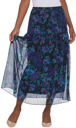 Linea By Louis Dell'olio by Louis Dell'Olio Regular Floral Print Pull-On Soft Skirt