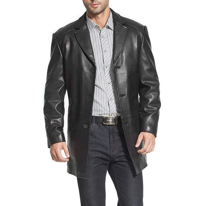 Asstd National Brand Carter Leather Car Coat Big
