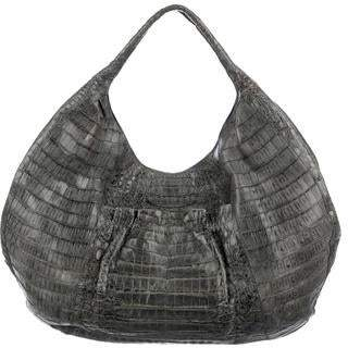 Nancy Gonzalez Crocodile Ruffle-Pocket Hobo 0a961c469909d
