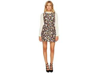 RED Valentino Chelsea Microflower Jacquard Dress Women's Dress
