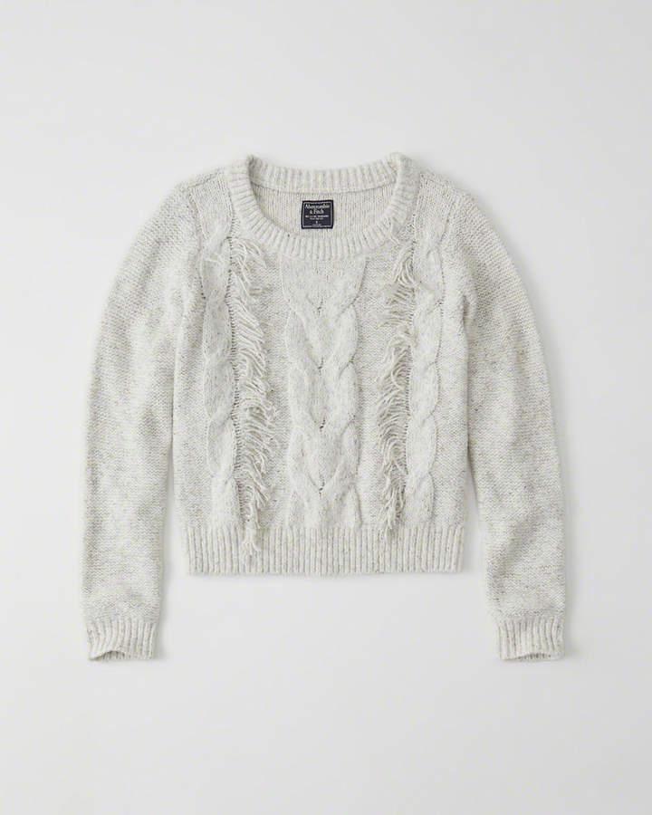 Crewneck Fringe Sweater