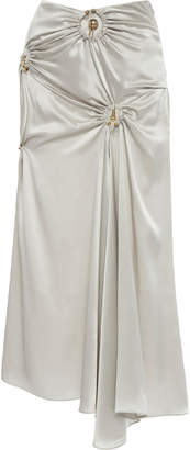 Christopher Esber Orbit Ruched Drape Skirt Size: 6