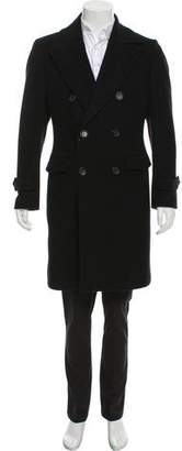 Burberry Double-Breasted Wool Overcoat