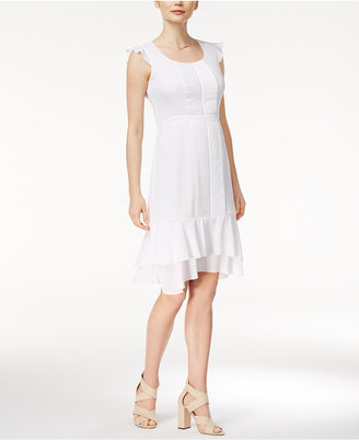 Maison Jules Pleated Flutter-Sleeve Dress, Created for Macy's $79.50 thestylecure.com