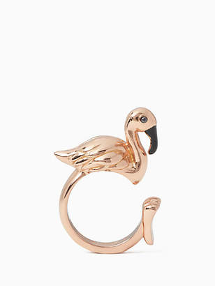 Kate Spade By the pool flamingo ring