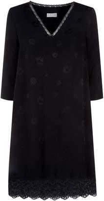 Claudie Pierlot Floral Jacquard Mini Dress