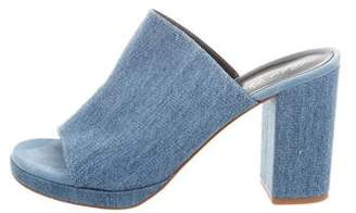 Robert Clergerie Denim Slide Sandals