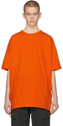 Helmut Lang SSENSE Exclusive Orange Oversized Uni Sleeve T-Shirt