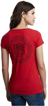 True Religion TRUE CREST ROUND V TEE