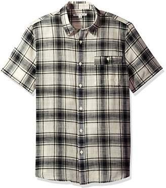 Threads 4 Thought Men's Sustainable Organic Cotton Gauze Plaid Short Sleeve Shirt