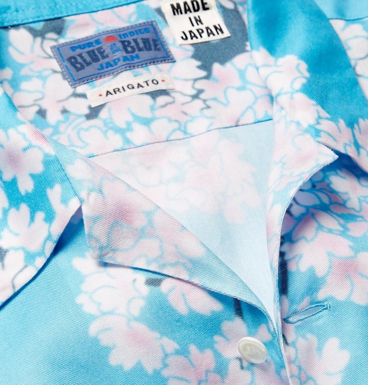 Blue Blue Japan Camp-Collar Printed Woven Shirt 4