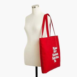 """J.Crew prinkshop for reusable everyday tote in """"Mama"""""""