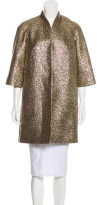 Milly Metallic Bouclé Coat