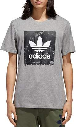 adidas Marble-Print Logo Graphic Tee