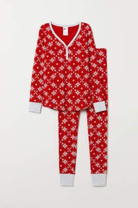 H&M Pajama Top and Leggings - Red