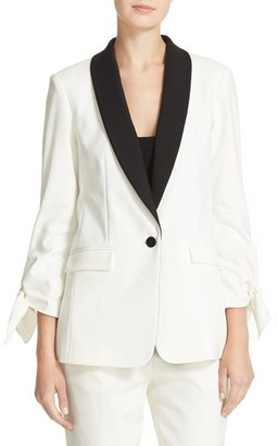 Women's Tibi Stretch Faille Tuxedo Jacket $595 thestylecure.com