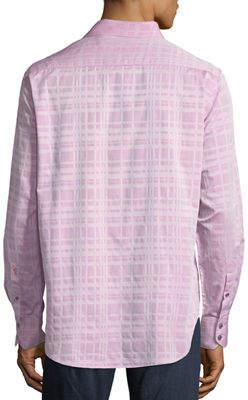 Robert Graham Tonal Plaid Sport Shirt