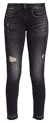 R 13 Women's Alison Distressed Cropped Jeans
