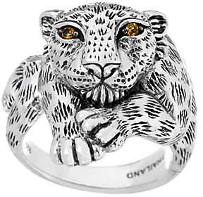 JAI Sterling Silver Leopard Ring