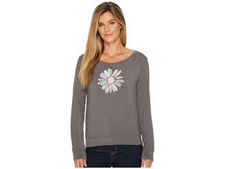 Life is Good Daisy Supreme Scoop Pullover Women's Long Sleeve Pullover