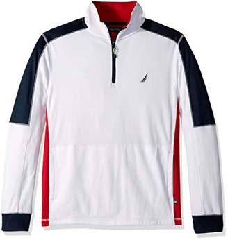 Nautica Men's Classic Fit Long Sleeve Performance Polo Shirt