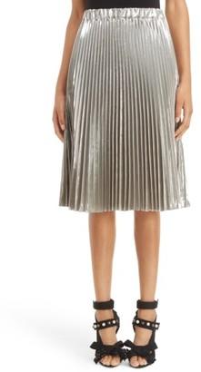 Women's N?21 Metallic Pleated Skirt $695 thestylecure.com