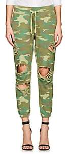 NSF Women's Sayde Distressed Camouflage Cotton Sweatpants-Camo