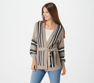 Laurie Felt Wrap Sweater with Long-Sleeves