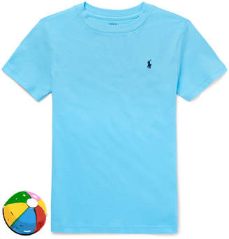 Polo Ralph Lauren Boys Ages 2 - 6 Cotton-Jersey T-Shirt - Light blue