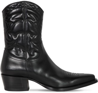 DSQUARED2 50mm Quilted Leather Cowboy Boots