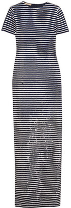 Michael Kors Collection - Striped Sequined Silk Maxi Dress - Navy $8,950 thestylecure.com