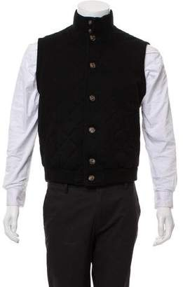 Loro Piana Cashmere Diamond Quilted Vest