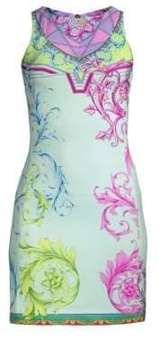 Versace Cindy Ferris Printed Sheath Dress
