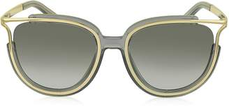 Chloé JAYME CE 688S 036 Gray Acetate and Gold Metal Square Women's Sunglasses