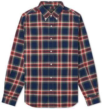 Beams Button Down Multi Check Shirt