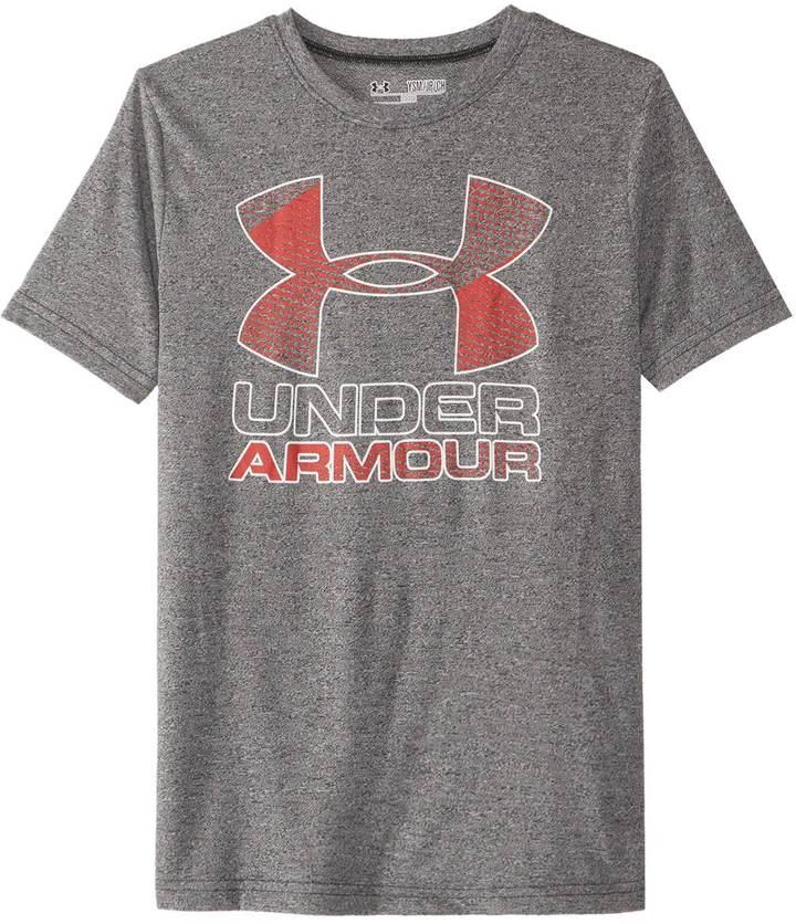 Under Armour Boys' Big Logo Hybrid 2.0 Short Sleeve Tee 8161549