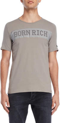 Replay Born Rich Perforated Logo Tee
