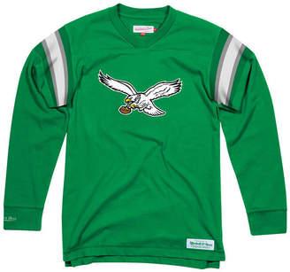 Mitchell & Ness Men's Philadelphia Eagles Team Captain V-Neck Long Sleeve T-Shirt