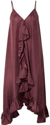 Mes Demoiselles Pamina Ruffled Silk-voile Dress - Plum