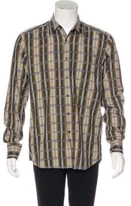 Prada Plaid Dress Shirt