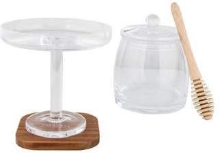 LSA International Serve Honey Pot and City Bar Olive Stand
