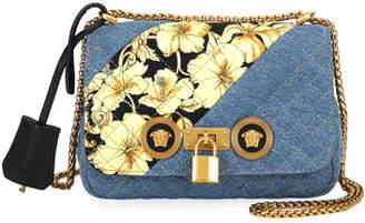 0eab1461aeb Versace Icon Small Denim Crossbody Bag with Barocco Detail